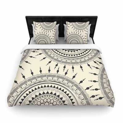 Famenxt Boho Magic Mandala Woven Duvet Cover Size: Full/Queen