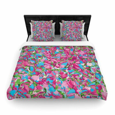Empire Ruhl Abstract Spring Petals Woven Duvet Cover Size: Full/Queen