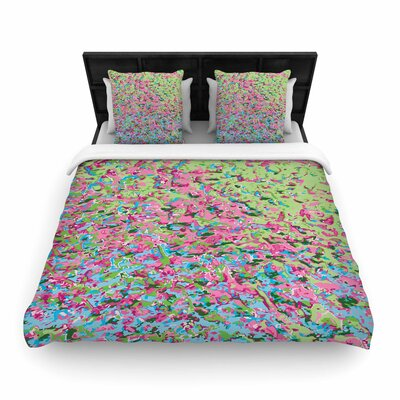 Empire Ruhl Spring Puddle Abstract Woven Duvet Cover Size: Twin