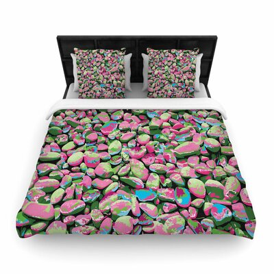 Empire Ruhl Rocks Spring Abstract Woven Duvet Cover Size: King