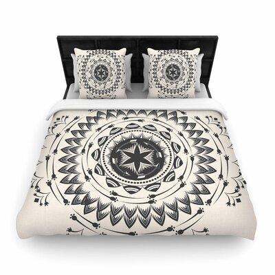 Famenxt Boho Tribe Mandala Woven Duvet Cover Size: Twin