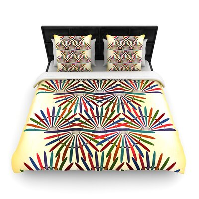 Famenxt Colorful Abstract Pattern Woven Duvet Cover Size: Twin