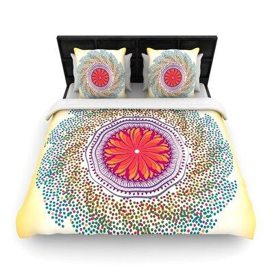 Famenxt Confetti Dots Mandala Woven Duvet Cover Size: King
