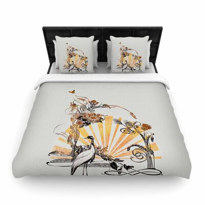 Federic Levy-Hadida Art Nouveau Tune Woven Duvet Cover Size: King