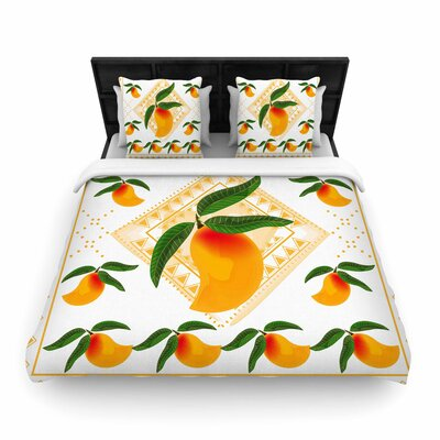 Famenxt Fresh Farm Mangoes Woven Duvet Cover Size: King