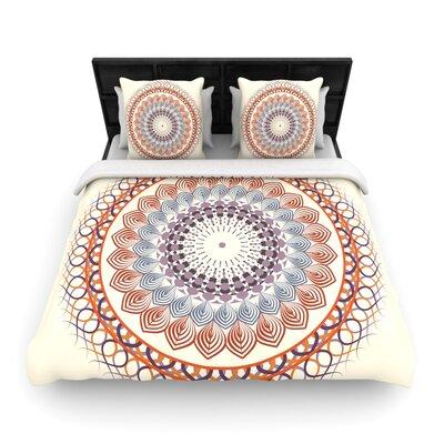 Famenxt Vintage Mandala Woven Duvet Cover Size: King