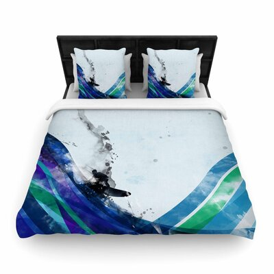 Federic Levy-Hadida The Wave Woven Duvet Cover Size: King