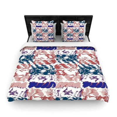 Fernanda Sternieri Nice Knot Woven Duvet Cover Size: King, Color: Blue/Red