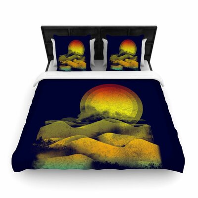 Federic Levy-Hadida Sunset Landscape Woven Duvet Cover Size: Full/Queen