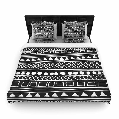 Fimbis Redefined BW Woven Duvet Cover Size: King