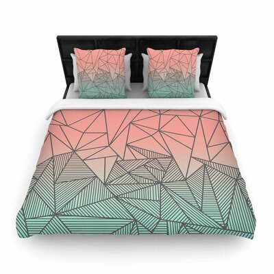 Fimbis Bodhi Rays Geometric Illustration Woven Duvet Cover