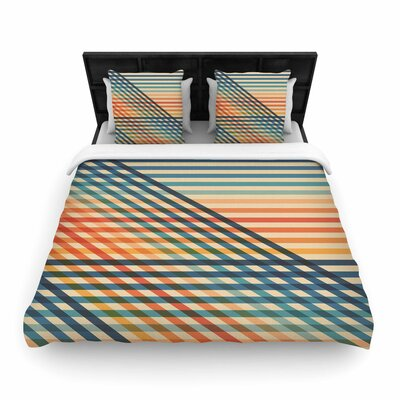 Fimbis Overlap Too Woven Duvet Cover Size: King