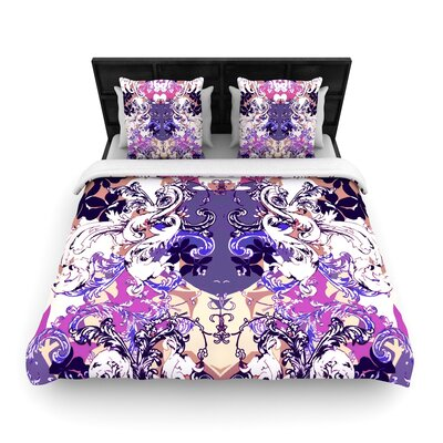Fernanda Sternieri Baroque in Love Woven Duvet Cover Size: Full/Queen