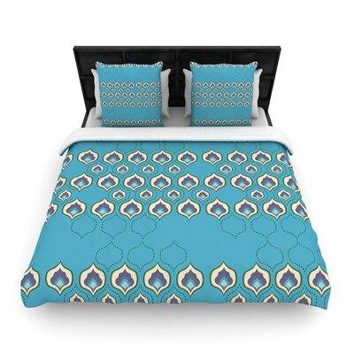 Fernanda Sternieri Happy Pat Woven Duvet Cover Size: King, Color: Blue