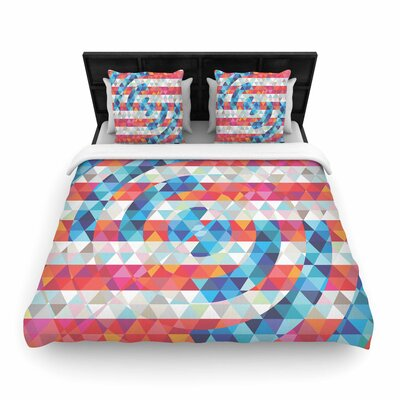 Fimbis Abstract America Digital Woven Duvet Cover Size: King