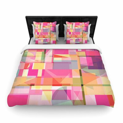 Fimbis Paku Geometric Woven Duvet Cover Size: Full/Queen