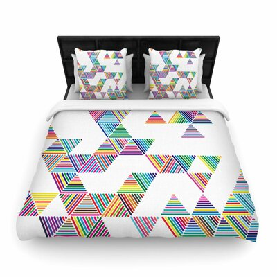 Fimbis Rainbow Rain Woven Duvet Cover Size: Full/Queen