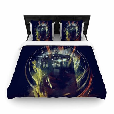 Frederic Levy-Hadida Its Lightfull Inside Digital Fantasy Woven Duvet Cover Size: King