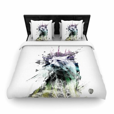 Frederic Levy-Hadida Art Name Cat Woven Duvet Cover Size: Full/Queen