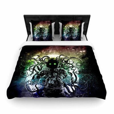 Frederic Levy-Hadida Terror From Deep Space Woven Duvet Cover Size: Full/Queen