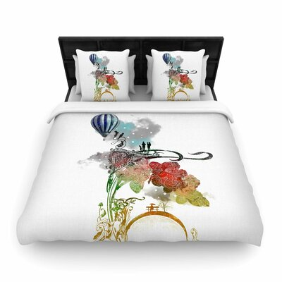 Frederic Levy-Hadida A Little Paradise Woven Duvet Cover Size: Full/Queen
