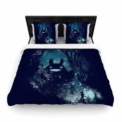 Frederic Levy-Hadida The Big Friend Fantasy Woven Duvet Cover Size: King