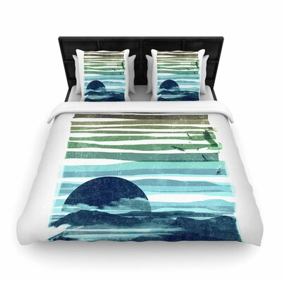 Frederic Levy-Hadida Sea Scape Stripes Woven Duvet Cover Size: Full/Queen