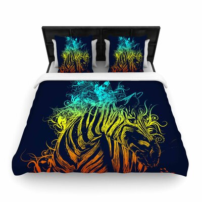 Frederic Levy-Hadida Wild Nature Rainbow Zebra Woven Duvet Cover Size: Twin