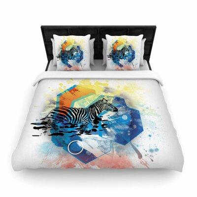 Frederic Levy-Hadida Walk Off the Colors Zebra Woven Duvet Cover Size: Full/Queen
