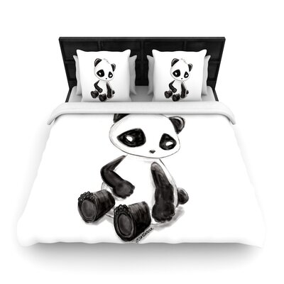 Geordanna Cordero-Fields My Panda Sketch Woven Duvet Cover Size: Twin