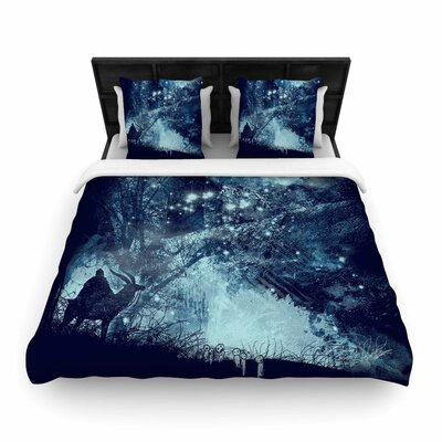 Frederic Levy-Hadida Forest Spirit Rising Fantasy Woven Duvet Cover Size: Full/Queen