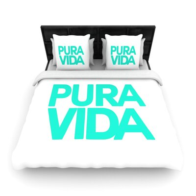 Geordanna Cordero-Fields Turquoise Pura Vida Woven Duvet Cover Size: Twin