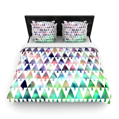 Gabriela Fuente X-Mas Party Geometric Woven Duvet Cover Size: Full/Queen