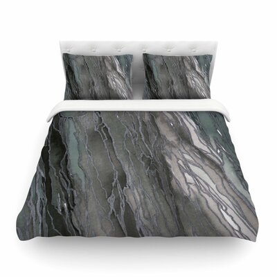 Ebi Emporium Agate Magic, Elegance Featherweight Duvet Cover Size: Twin, Color: Gray/Tan