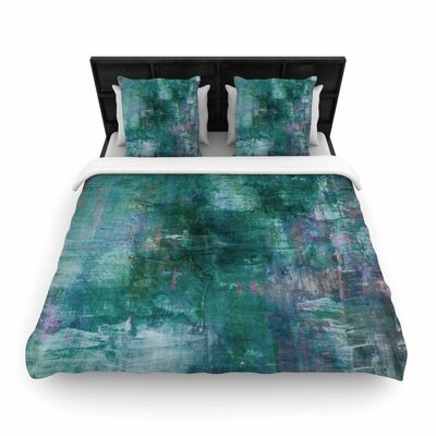 Ebi Emporium Blue Planet Woven Duvet Cover Size: King