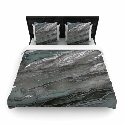 Ebi Emporium Agate Magic, Elegance Woven Duvet Cover Size: King, Color: Gray/Tan