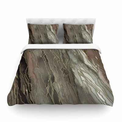 Ebi Emporium Agate Magic, Elegance Featherweight Duvet Cover Color: Tan/Gold, Size: King