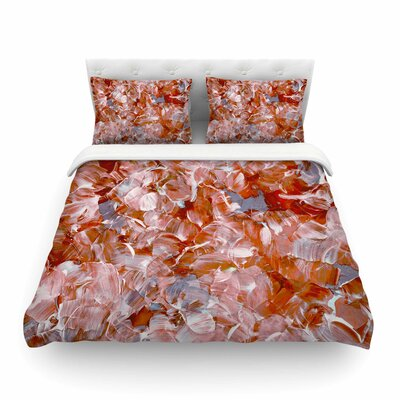 Ebi Emporium Bloom On, Spice Painting Featherweight Duvet Cover Size: Twin