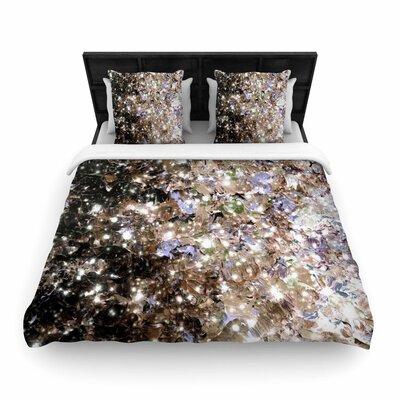 Ebi Emporium Cocoa Nebula Painting Woven Duvet Cover Size: Twin