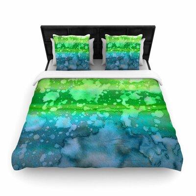 Ebi Emporium California Surf Woven Duvet Cover Color: Green/Teal