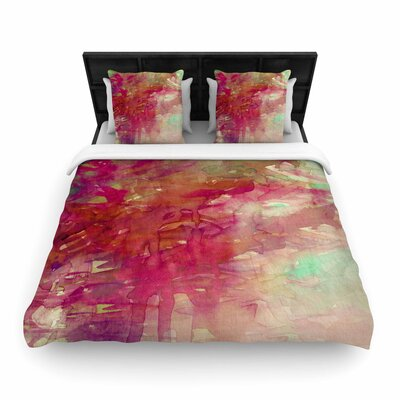 Ebi Emporium Carnival Dreams Woven Duvet Cover Color: Red/Beige, Size: Full/Queen