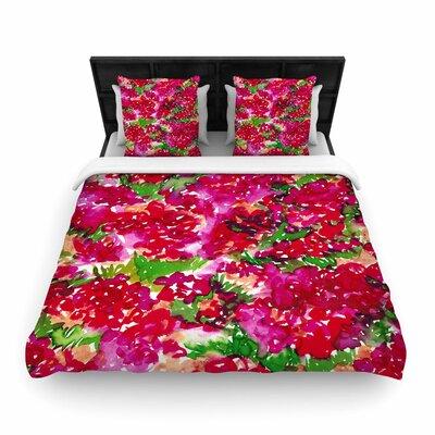 Ebi Emporium Floral Assumption Woven Duvet Cover Size: King