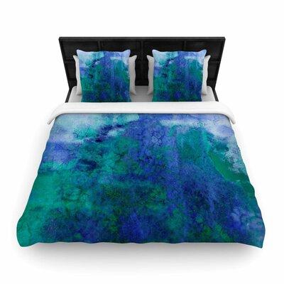 Ebi Emporium Epoch Woven Duvet Cover Size: Full/Queen, Color: Blue/Teal