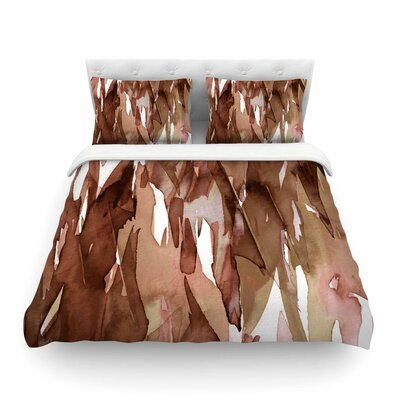 Ebi Emporium Fervor Featherweight Duvet Cover Size: King, Color: Brown/Tan