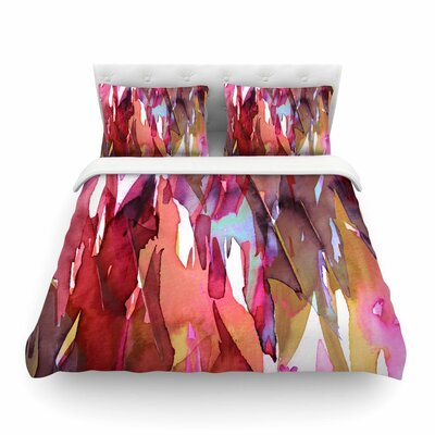 Ebi Emporium Fervor Featherweight Duvet Cover Size: King, Color: Pink