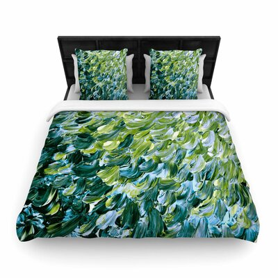 Ebi Emporium Frosted Feathers 3 Woven Duvet Cover Size: Twin