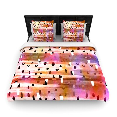Ebi Emporium Geo Party Woven Duvet Cover Size: King