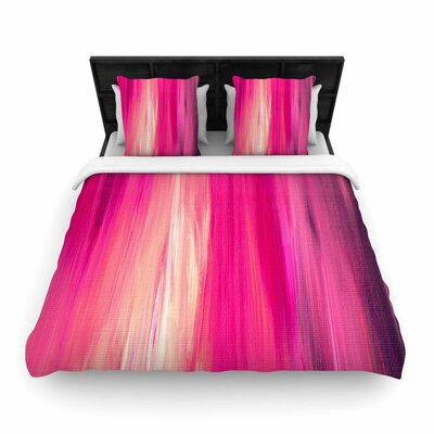 Ebi Emporium 'Irradiated' Woven Duvet Cover Color: Magenta Pink, Size: Twin