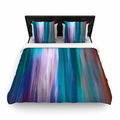 Ebi Emporium Irradiated Woven Duvet Cover Color: Teal, Size: Twin
