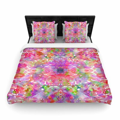 Ebi Emporium Jewel in the Crown Woven Duvet Cover Size: King